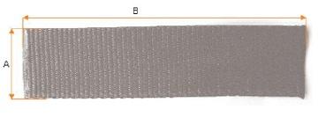 Black Webbing (Nethanger roller strap) 45mm x 200mm