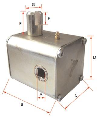 GEAR BOX 80x80-96MM SQ LEFT-R OR RIGHT-F