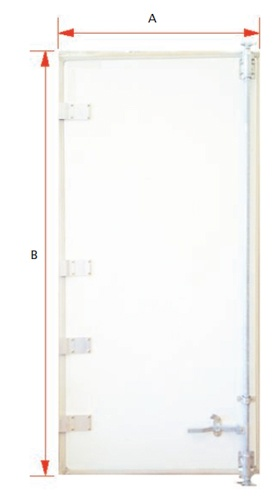 PLY-METAL SWING DOORS SET