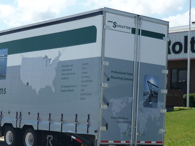 Tractor Trailer Rear Door Decal Graphics
