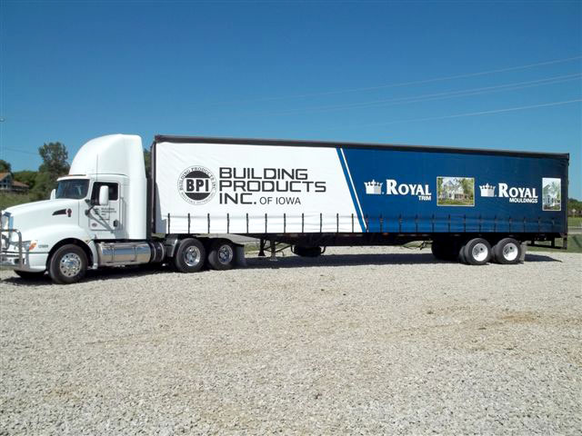 Building Products Curtainside Trailer Graphics