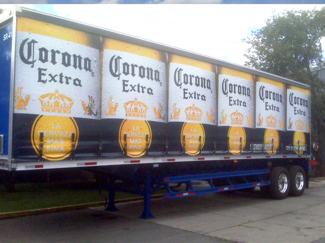 Corona Curtainside Trailer Graphics