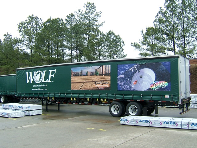 Curtains and Graphics for Trailers
