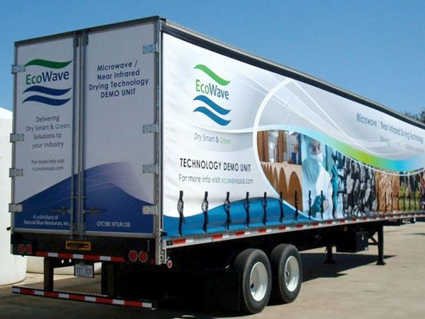 Ecowave Curtainside trailer graphics