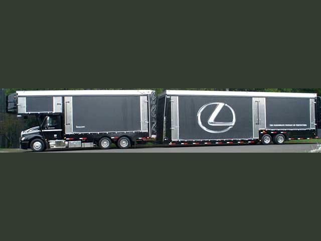 Lexus curtainside trailer graphics
