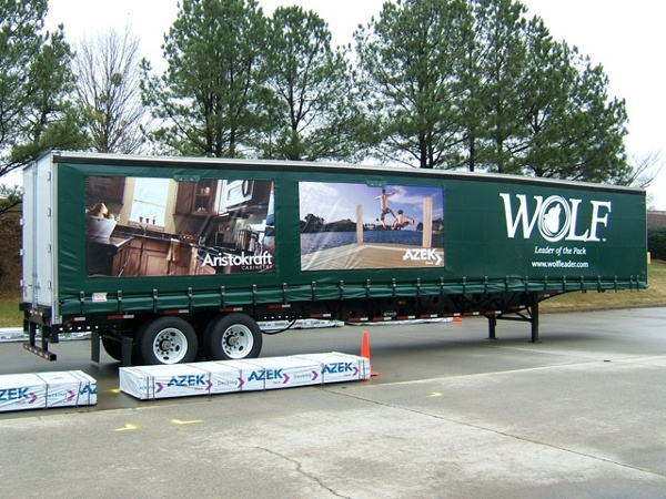 Wolf curtainside trailer graphics