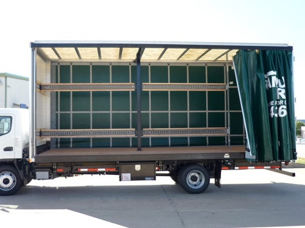 Inside of a Curtainside Bodies Trailer