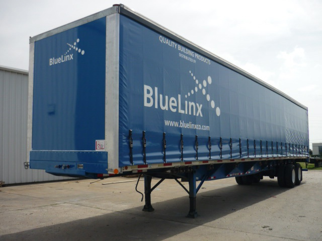 1994 flatbed trailer converted with a 2014 curtainside trailer conversion - after