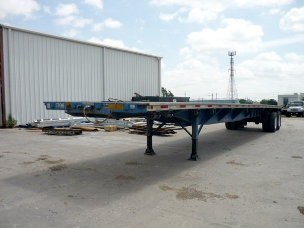 1994 flatbed trailer converted with a 2014 curtainside trailer conversion - before