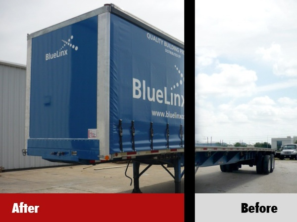 Curtainside Conversion before and after