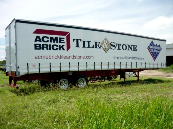 Acme Brick Curtainside Trailer