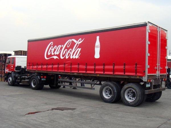 Coca-Cola Curtainside Trailer