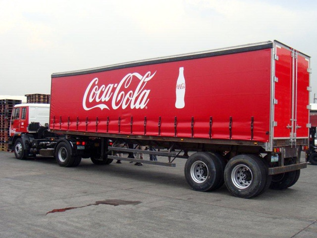 Coca-Cola Curtainside Trailer